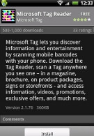 Microsoft's first app for Android is Tag Reader