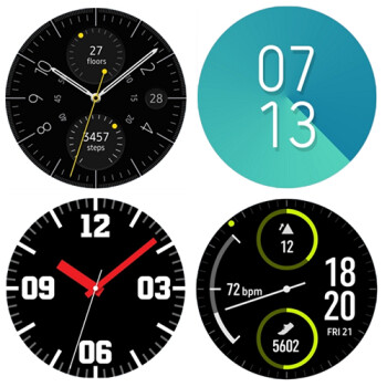 The official Samsung Gear Sport watch faces are now available on the Gear S3 and Gear S2