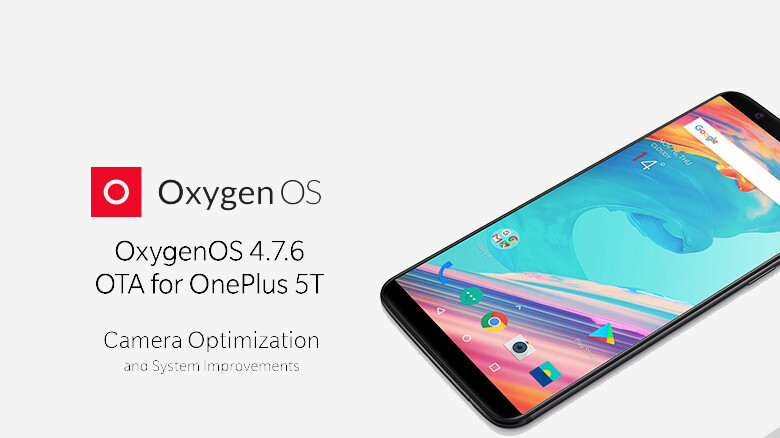 Software update for the OnePlus 5T brings camera and system improvements
