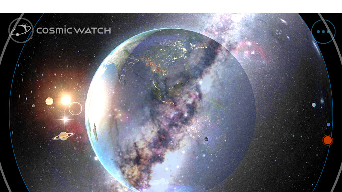 Cosmic Watch is a cool and sleek app that tracks the movement of Earth and nearby celestial bodies