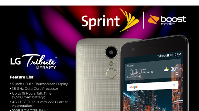 Sprint intros the cheap LG Tribute Dynasty, already available on Boost Mobile for $59