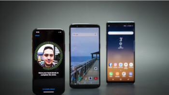 Face unlock: who does it best? iPhone X vs Samsung Galaxy Note 8, OnePlus 5T