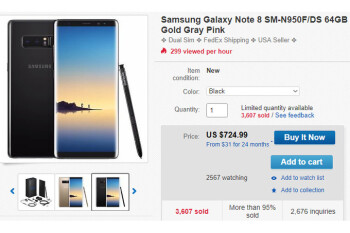 Deal: Unlocked Samsung Galaxy Note 8 is nearly 25% off on eBay