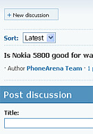 New PhoneArena Feature - Phone Discussions