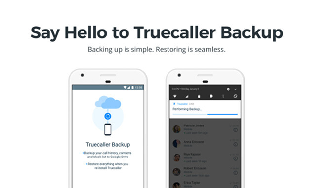 Truecaller for Android updated with Backup option and Contacts list