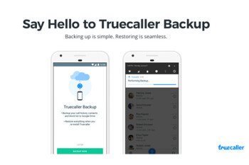 Picture from Truecaller for Android updated with Backup option and Contacts list