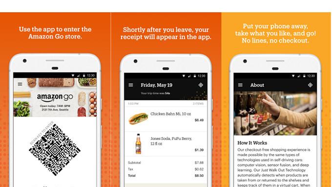 Amazon Go-App im Google Play Store veröffentlicht, damit Sie in einem futuristischen Store