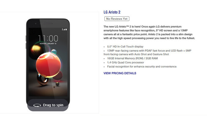 LG Aristo 2 goes official at MetroPCS, priced to sell for $60