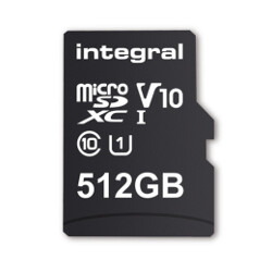 512GB microSDXC card coming next month from U.K.'s Integral Memory