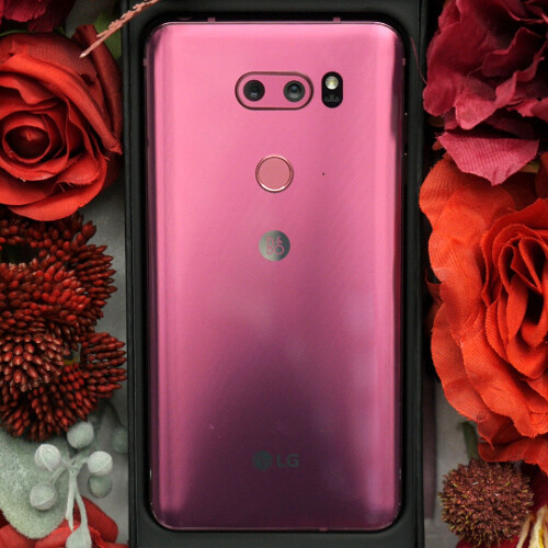 e0e93a2593ae68 LG V30 Raspberry Rose  special Valentine s Day edition unboxing! -  PhoneArena
