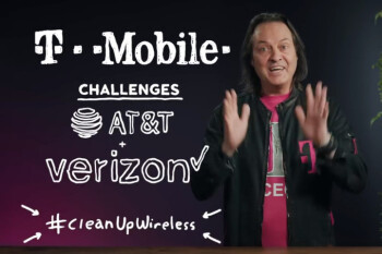 John Legere calls Verizon and AT&T 'dumb and dumber' in a clean energy challenge