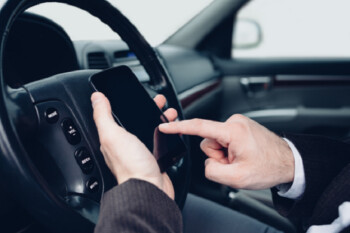 France bans drivers from using a phone except in a designated spot, or for accidents and malfunctions