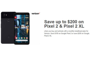 Deal: Save up to $200 on the Pixel 2 and Pixel 2 XL for Verizon