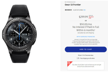 Deal: Save up to $100 (30% off) on the Samsung Gear S3 frontier