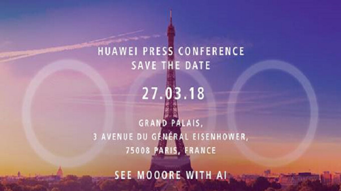 Huawei invite hints that the P20 and P20 Plus will feature three cameras on back