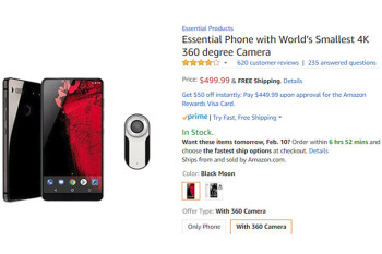 Essential Phone now comes with free 4K 360-degree camera ($179 value)