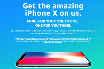 And the first free iPhone X BOGO deal goes to... AT&T