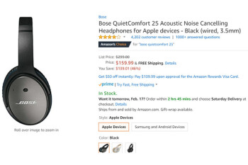 Deal: Save nearly 50% on Bose's QuietComfort 25 headphones for Apple devices