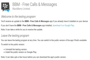 New BBM beta for Android now available from the Google Play Store with several new features
