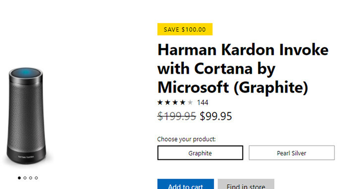 Deal: Grab the Harman Kardon Invoke speaker with Microsoft's Cortana at half price