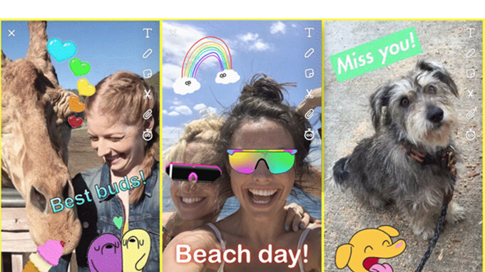 Snapchat update adds GIF stickers and some design changes
