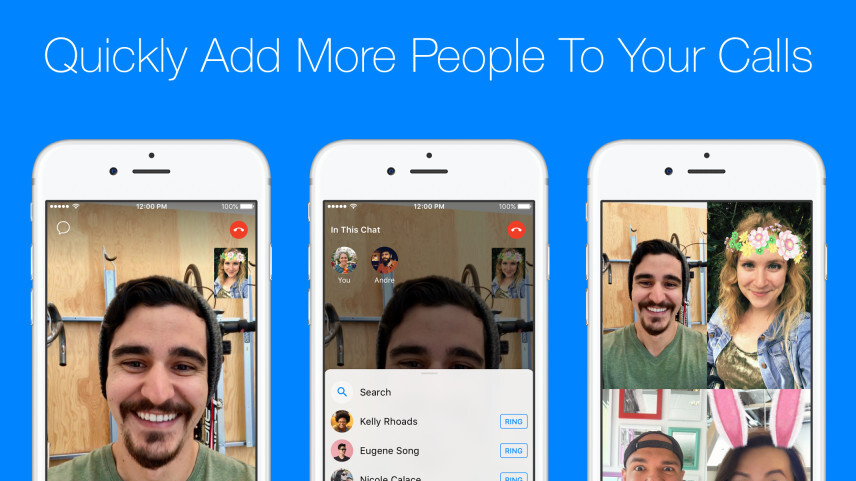 Facebook Messenger Update macht Gruppenanrufe einfacher