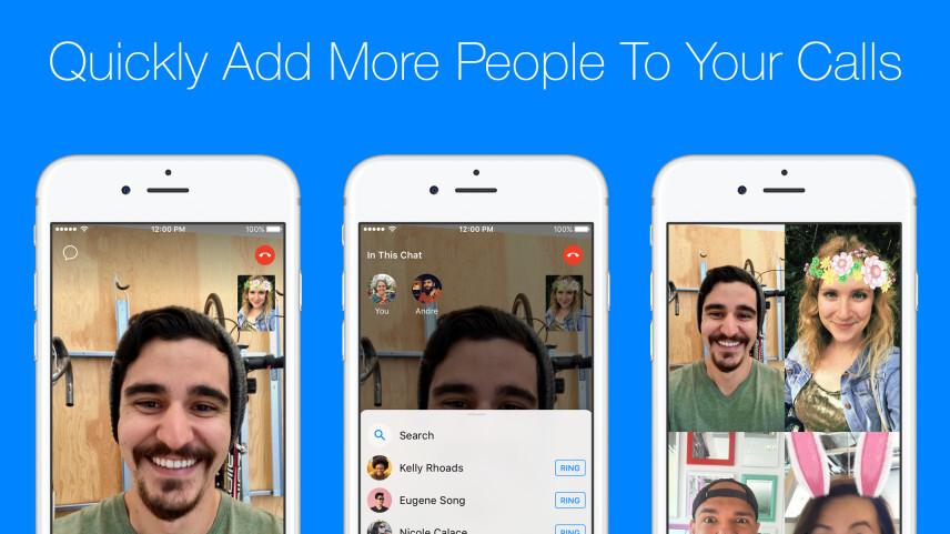 Facebook Messenger update makes group calls easier