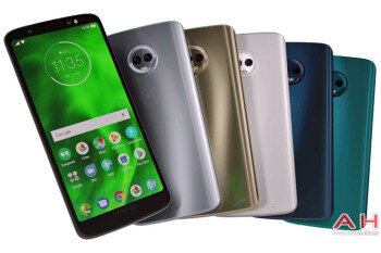 Motorola Moto G6 Plus press render shows all available color options