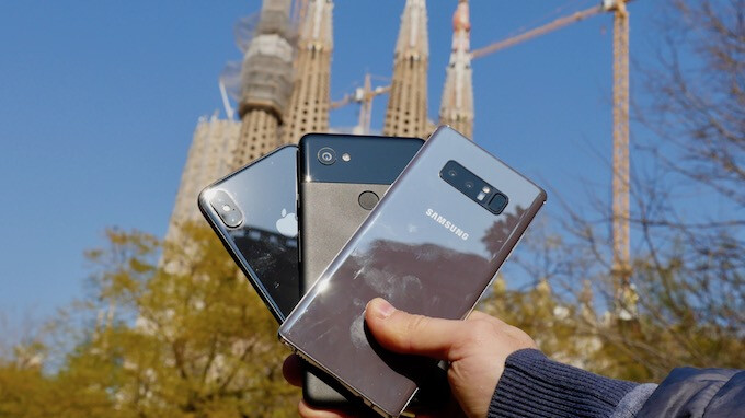 The Big Barcelona Camera Comparison: iPhone X vs Pixel 2 XL vs Note 8