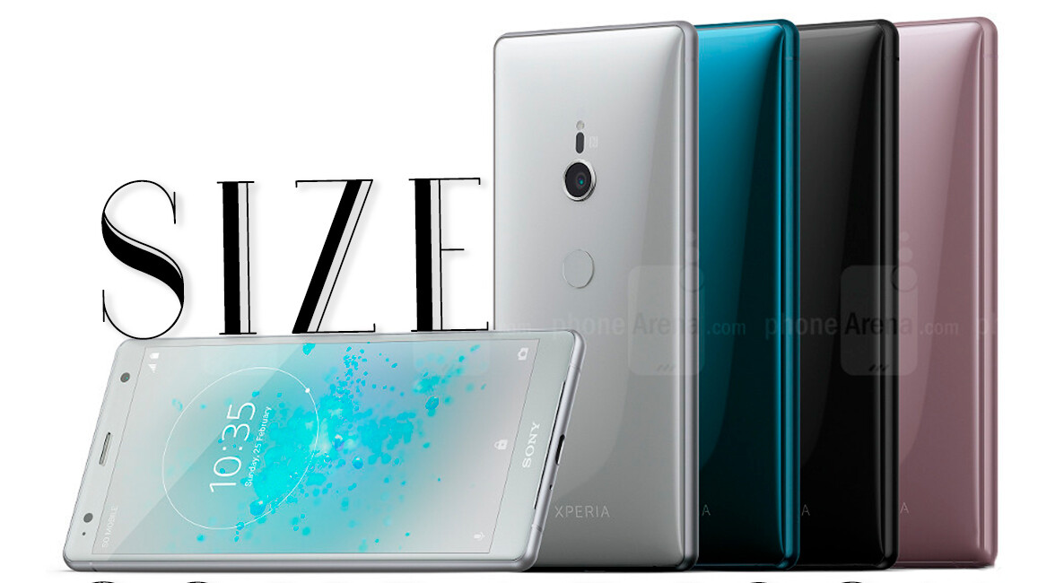 Sony Xperia XZ2 and XZ2 Compact size comparison vs Galaxy S9, S9+, iPhone X, 8, 8 Plus, LG V30, OnePlus 5T