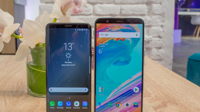 Samsung Galaxy S9 vs OnePlus 5T: first look