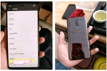 Alleged OnePlus 6 leaks with a notch on top