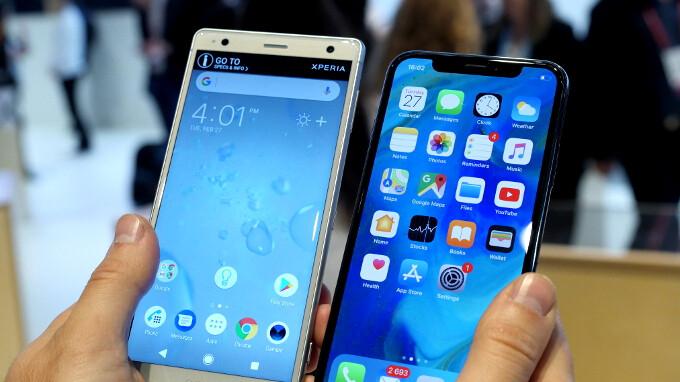 sony xperia xz2 vs iphone x comparison phonearena reviews