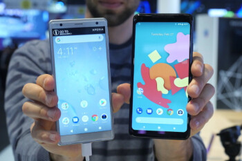 Sony Xperia XZ2 vs Google Pixel 2 XL: first look