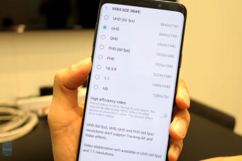 Galaxy S9 has a 5-minute rule on recording 4K 60fps video