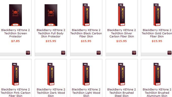 BlackBerry KEYone 2 accessories appear online