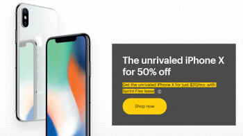 Consumer organization says Sprint's promotion of its 50% off Apple iPhone X deal is misleading