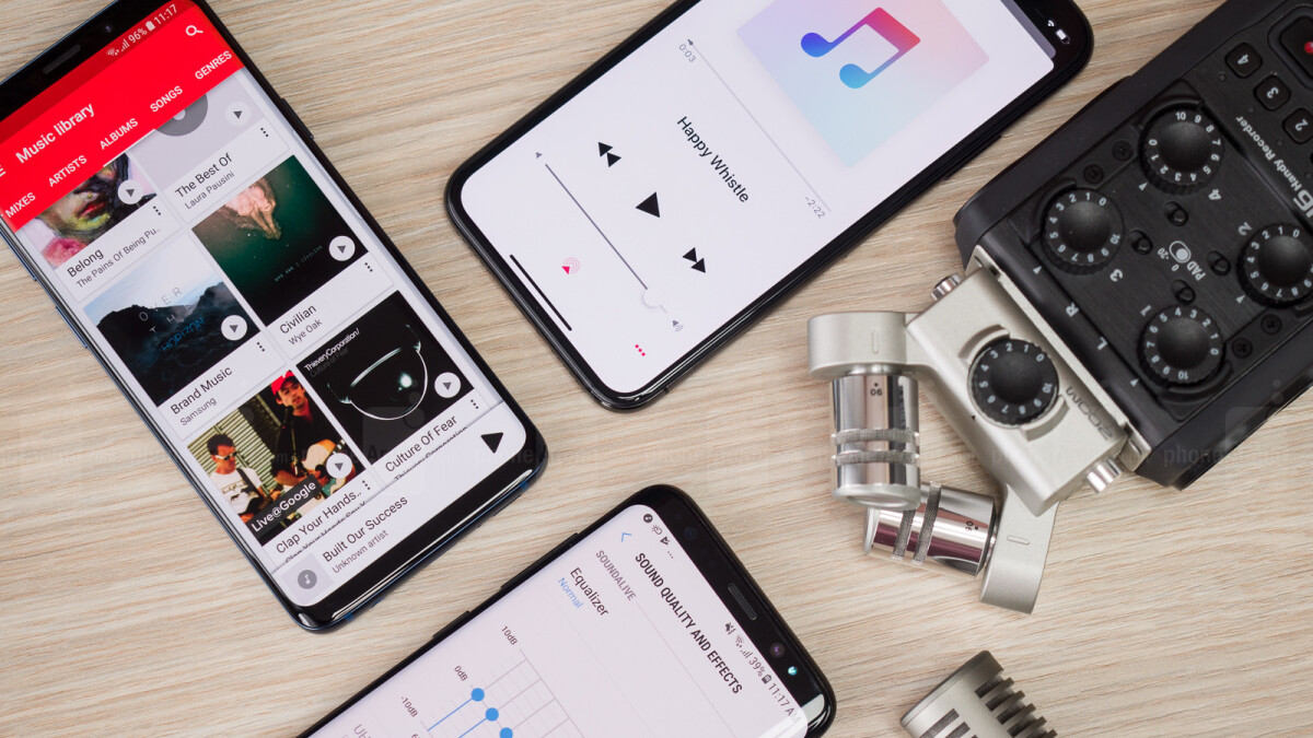 Samsung Galaxy S9 stereo speakers compared vs Galaxy S8, iPhone X