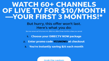 Get three months of DirecTV Now for only $30
