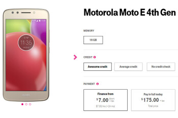 T-Mobile starts selling the Moto E4 for $175 outright