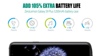 ZeroLemon's case for the Galaxy S9+ will double its battery life