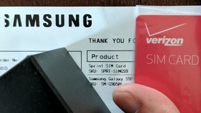 Samsung apologizes for putting Verizon SIM cards in Sprint's Galaxy S9 packages