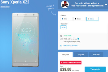 Picture from Sony Xperia XZ2 pre-orders start today overseas; reserve a unit and get a free PS4 or PlayStation VR