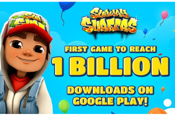 Picture from Subway Surfers is world's first game to reach 1 billion downloads on the Play Store