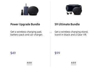 Picture from Samsung offers special discounted bundles for each Galaxy S9/S9+ purchase