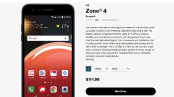 LG Zone 4 arrives at Verizon, costs less than $150 on prepaid