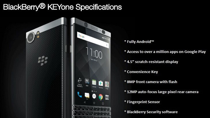 Unlocked BlackBerry KEYone gets the March security update