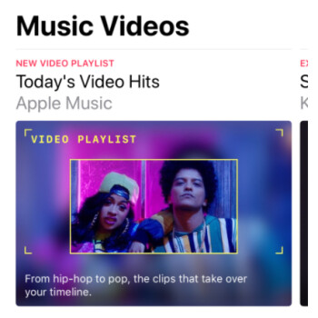 'Music Videos' section goes live in Apple Music