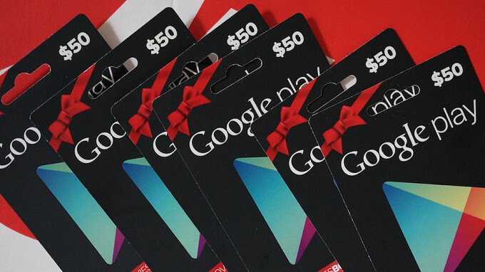Buy a $50 or higher Google Play gift card from Amazon and save $5
