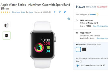 Deal: The Apple Watch Series 1 is on sale for $100 off at Walmart